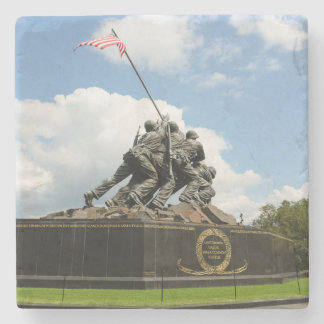 Iwo Jima Memorial in Washington DC Stone Coaster