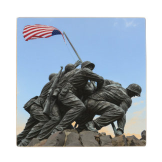 Iwo Jima Memorial in Washington DC Wood Coaster