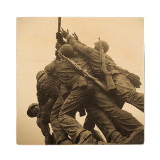 Iwo Jima Memorial in Washington DC Wooden Coaster