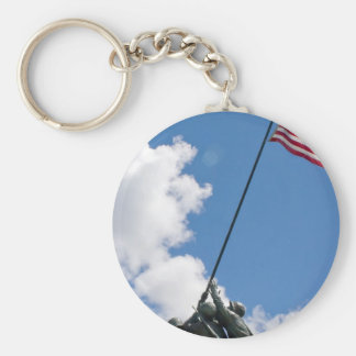 Iwo Jima Memorial Monument Basic Round Button Keychain