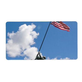 Iwo Jima Memorial Monument Personalized Shipping Labels