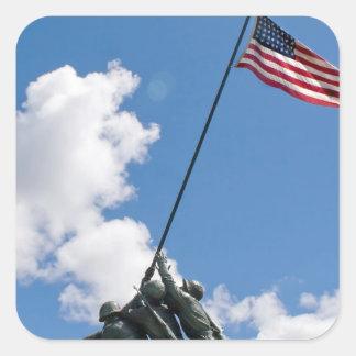 Iwo Jima Memorial Monument Square Stickers