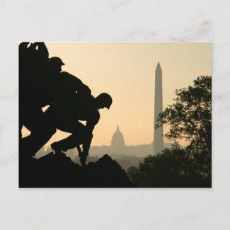 Iwo Jima Morning Postcard postcard