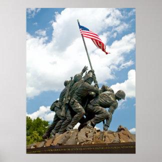 Iwo Jima - opinión del lado oeste Póster