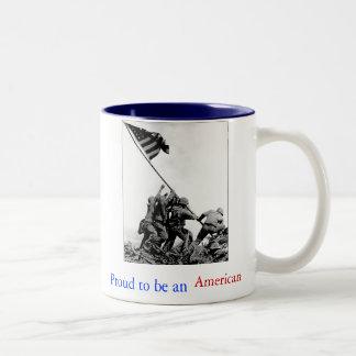 Iwo Jima orgulloso ser una taza de café americana