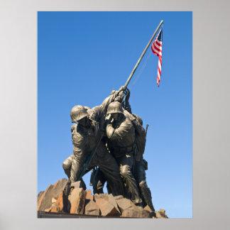Iwo Jima - visión frontal Póster