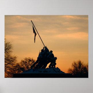Iwo Jima Winter Morn Poster