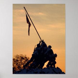 Iwo Jima Winter Morning Poster