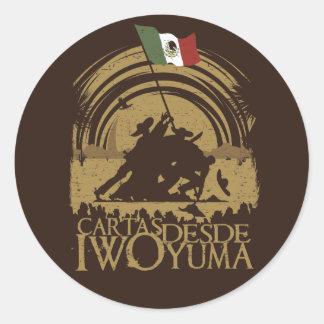 Iwo Yuma Round Sticker