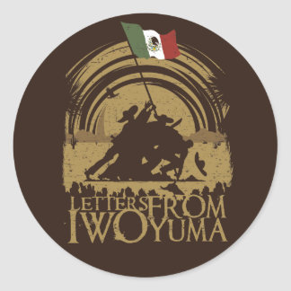 Iwo Yuma Round Stickers