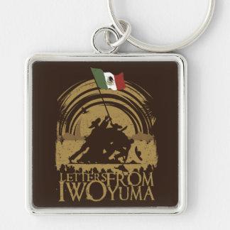 Iwo Yuma Silver-Colored Square Keychain