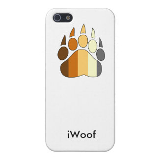 iWoof Bear Pride Paw iPhone 4/4S case (white)