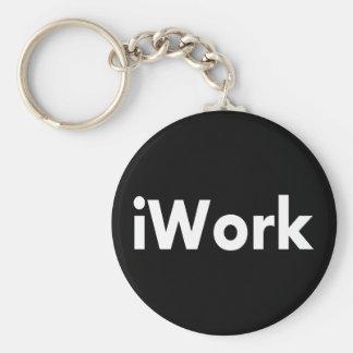 iWork Basic Round Button Keychain