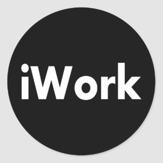 iWork Classic Round Sticker