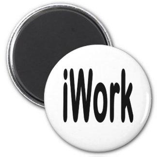 iwork design black text 2 inch round magnet
