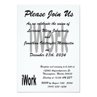iwork design black text 5x7 paper invitation card