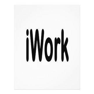 """iwork design black text 8.5"""" x 11"""" flyer"""