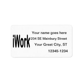 iwork design black text address label