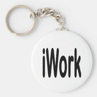 iwork design black text basic round button keychain