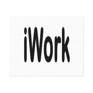 iwork design black text canvas print