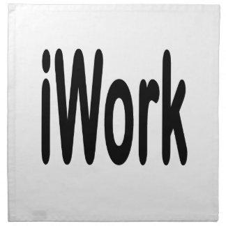 iwork design black text cloth napkin