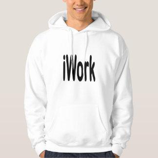 iwork design black text hooded sweatshirts
