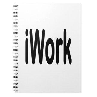 iwork design black text note books