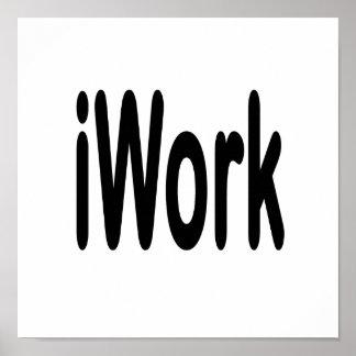 iwork design black text poster