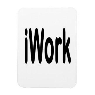 iwork design black text rectangular photo magnet