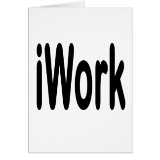 iwork design black text stationery note card