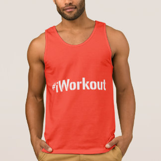 #iWorkout Tank Top (white letters)