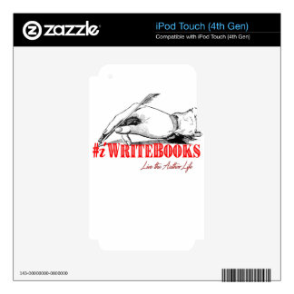 #iWriteBooks Skin For iPod Touch 4G