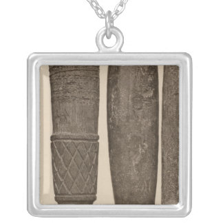 IX Stone pipes, So Calif Silver Plated Necklace