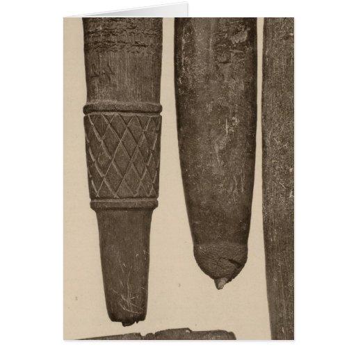IX tubos de piedra, tan Calif Tarjeta De Felicitación