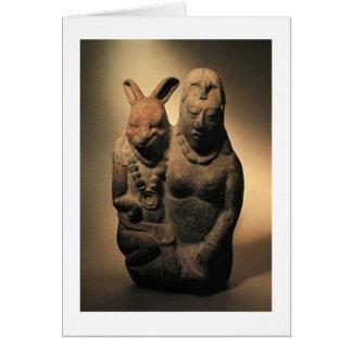 Ixchel y el conejo tarjeta pequeña