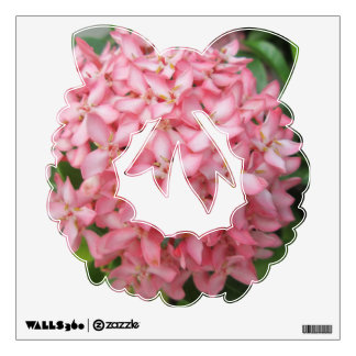 Ixora Pink Garden Plant Wall Decal