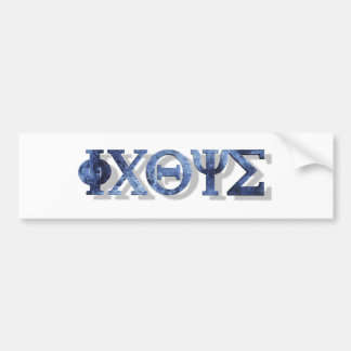 IXOYE 2 Bleu 3D Bumper Sticker