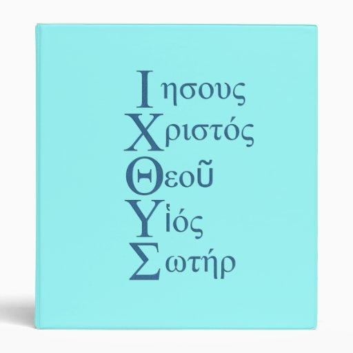 IXOYE Acrostic (Blue) Vinyl Binder