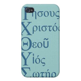 IXOYE Acrostic (Blue) iPhone 4 Case