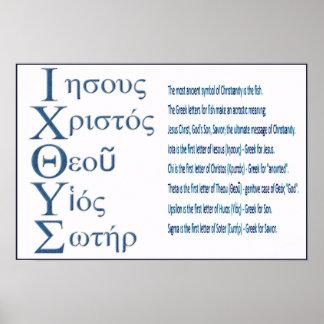 IXOYE Acrostic (Blue) Poster