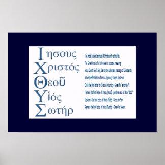 IXOYE Acrostic (Blue) Print