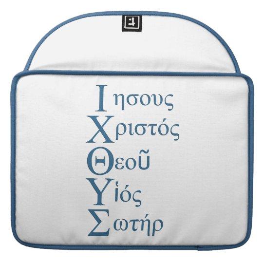 IXOYE Acrostic (Blue) Sleeve For MacBooks