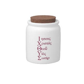 IXOYE Acrostic (Red) Candy Jar
