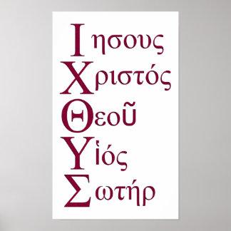 IXOYE Acrostic (Red) Print