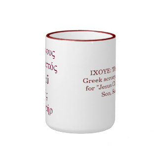 IXOYE Acrostic (Red) Ringer Coffee Mug
