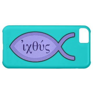 IXOYE Christian Fish Symbol - Blue Parchment iPhone 5C Cases