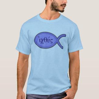IXOYE Christian Fish Symbol - Blue Parchment T-Shirt
