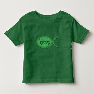 IXOYE Christian Fish Symbol - Green Parchment Toddler T-shirt