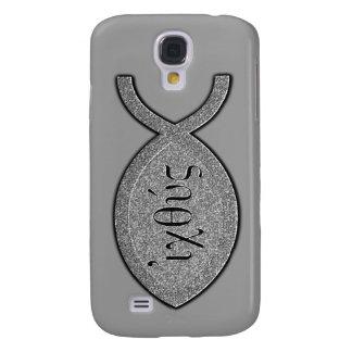 IXOYE Christian Fish Symbol - Stone Effect Samsung S4 Case