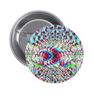 IXOYE fish camouflaged Button